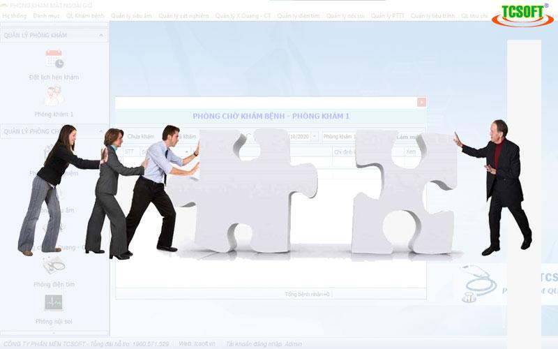 Liên kết nội bộ nhanh chóng - Phần mềm quản lý phòng khám