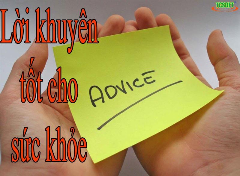 Lời khuyên tốt cho sức khỏe
