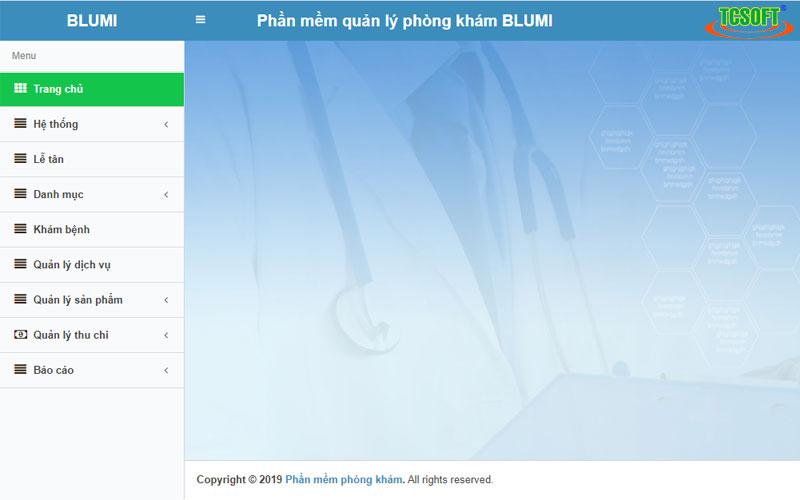 Phần mềm quản lý phòng khám online Blumi