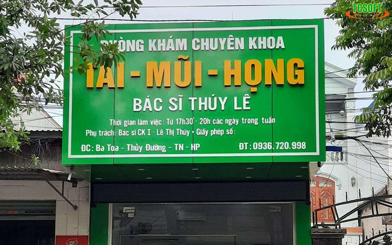 PK Tai Mũi Họng đã dùng TCSOFT MEDICAL